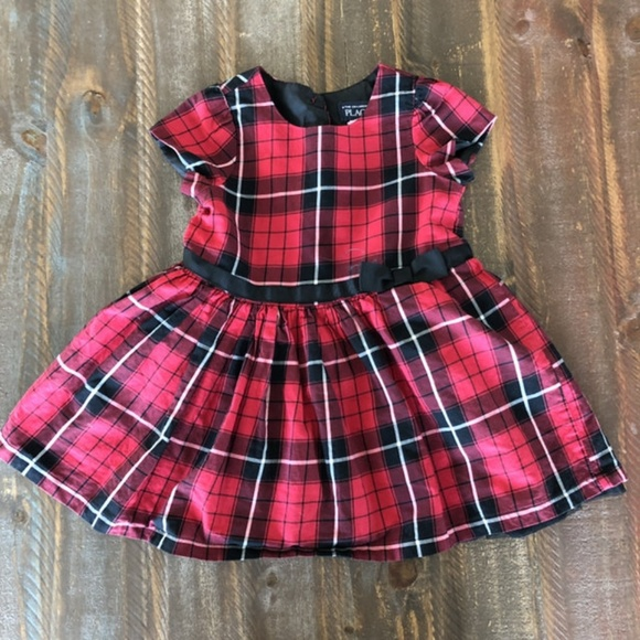 Children's Place Other - *2/$10* Red Plaid Holiday Dress